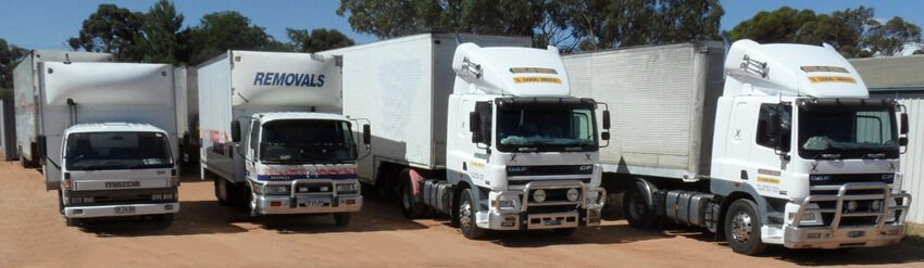 Some of our fleet of removalist trucks